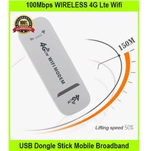 100Mbps WIRELESS 4G Lte Wifi USB Dongle Stick Mobile Broadba - [WHITE]