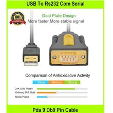 USB To Rs232 Com Serial Pda 9 Db9 Pin Cable Adapter With Pl2303 - [1M]