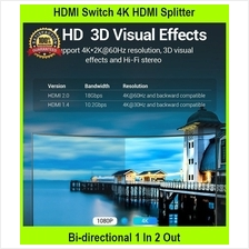 HDMI Switch 4K HDMI Splitter Bi-directional 1 In 2 Out Or 2 In 1 Out H