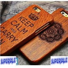 iPhone 5 / 6 4.7' Real Wood Luxury Full CASE CASING COVER