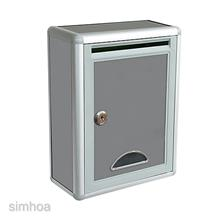 Magideal Aluminium Alloy Mailbox Wall Mounted Outdoor Letter Post Mail