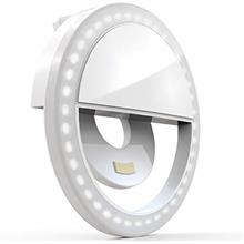 Auxiwa Clip on Selfie Ring Light [Rechargeable Battery] with 36 LED for Smart