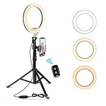 "10.2 "" Selfie Ring Light with Tripod Stand  & Cell Phone Holder for Live"
