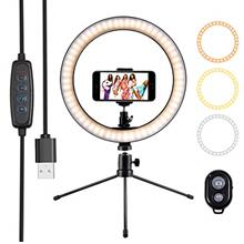 "10 "" Ring Light Selfie Light Ring with Tripod Stand  & Cell Phone Holder"