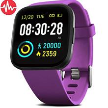 FITVII Smart Watch, Fitness Tracker with Heart Rate Monitor, IP68 Waterproof S