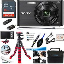 Sony DSC-W830 Digital Camera (Black) - Deal-Expo Essential Accessories Bundlef