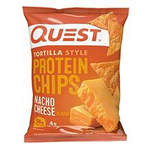Quest Nutrition Tortilla Style Protein Chips, Nacho Cheese, Low Carb, Gluten F