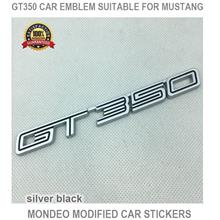 Gt350 Car Emblem Suitable For Mustang Mondeo Modified - [SILVER BLACK]