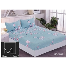 CADAR BUJANG SINGLE 2IN1 BEDSHEET ASRAMA (FITTED BERGETAH READY STOCK