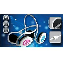 CLIPTEC VELOCITY-LITE MULTIMEDIA HEADSET (BMH484) BLUE/PINK