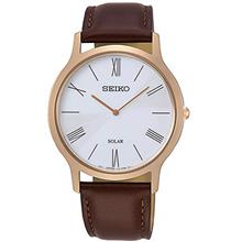 Seiko Solar Mens Analog Solar Watch with Leather Bracelet SUP854P1from USA