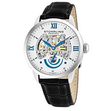 Stuhrling Original Men's 574.01 Executive II Automatic Skeleton Watch With Bla