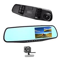 "Car DVR Rear view Mirror Video Recroder 4.3 "" inch Car Camera Dual lens C"