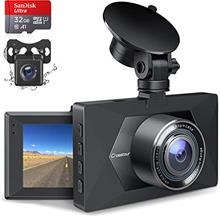 Dash Cam Front and Rear, 32GB TF Card Included, Crosstour Dual Dash Camera for