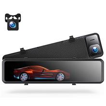 TOGUARD 4K Mirror Dash Cam Backup Camera for Cars Voice Control GPS Tracking,