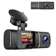 TOGUARD Dual Dash Cam with IR Night Vision, FHD 1080P Front and 720P Inside Ca