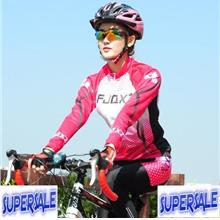 Women Cycling Long Sleeve Pants Jersey Suit Cushion Clothings Shirt