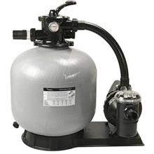 Swimming Pool Filter System [Filter + Pump + Pre-installed Pipe + Base