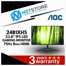 "AOC 24B1XH5 23.8"" IPS 75Hz 8ms VGA HDMI LED MONITOR"