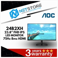 "AOC 24B2XH 23.8"" FHD IPS LED MONITOR - 75Hz, 8ms, 1920x1080"