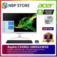 "Acer Aspire C24962-1005G1W10 23.8 "" FHD All-in-One Desktop PC"