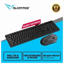 Alcatroz Xplorer C3300 Silent USB Wired Keyboard Mouse Combo Set (Blac