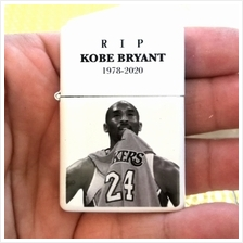 Kobe Bryant 1978 - 2020 RIP White Oil Lighter Zippo Flame Windproof