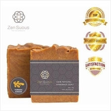 Zensuous Turmeric Ginger 100% Natural Handcrafted Soap bar  100g ( / - 10