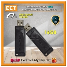 Verbatim New Slider 16GB / 32GB USB 2.0 Flash Drive