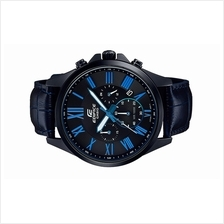 Casio EDIFICE Men Chronograph Blue Leather Watch EFV-500BL-1BVUDF