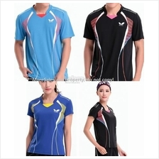 Men Women Table tennis pingpong badminton jersey top shirt butterfly #