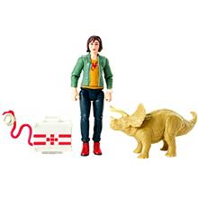 JURASSIC WORLD BASIC FIGURE Zia  & Triceratops-US