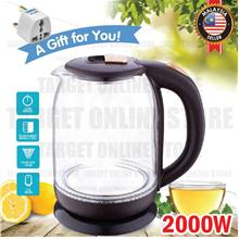 MYLONG Electric Cordless Glass Jug Kettle 2.0L Led Light Fast Heating