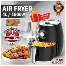 [1 YEAR WARRANTY] HAEGER HG-5286 Air Fryer Temperature Control Timer