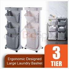 BIGSPOON SS00080 Ergonomic Designed 3-Tier Large Multipurpose Trolley
