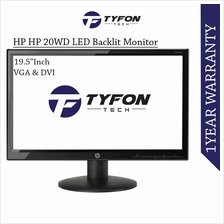 "HP 19.5 "" Inch Widescreen LED Backlit Monitor 20wd (Refurbished)"