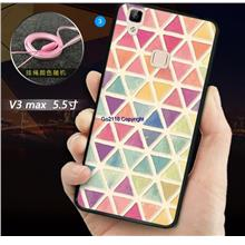 Vivo v3 max 3D TPU Silicone Soft Back Case Cover Casing+Tempered Glass