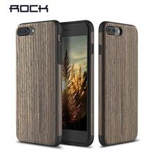 Rock iphone 7 plus 6S Plus Wood Back Case Casing Cover + Tempered glas