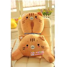 Healthy Cute Cartoon Back Bone Lumbar pad Travel Office Chair Pillow