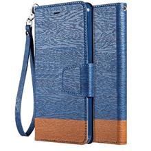 Huawei Honor View 10 Jean Fabric Flip Leather Case Cover Casing
