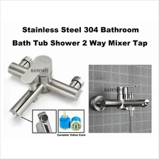 304 Stainless Steel Bathroom 2 Way Faucet Mixer Water Tap 2212.1