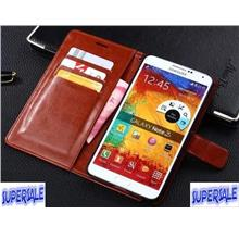 Leather Wallet Casing Case Samsung A5/A7/A8/S5/S6/S7/S8+ /NOTE 2/3/4/5