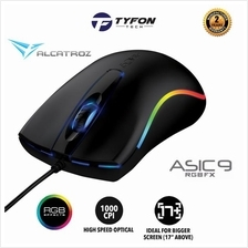 Alcatroz Asic 9 RGB FX USB Wired Gaming Mouse 1000 CPI (Black)