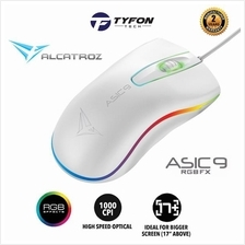 Alcatroz Asic 9 RGB FX Gaming Wired Mouse (White)