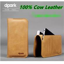 100% Dpark Cow Leather Apple iPhone 7 / Plus Wallet Case Cover Casing