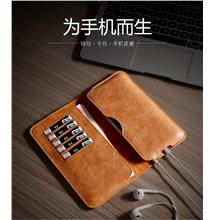 100% Cow Leather iPhone Samsung Huawei Wallet Case Cover Casing