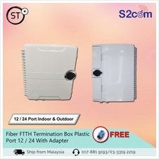 Fiber FTTH Termination Box Plastic 12 / 24 With Adapter