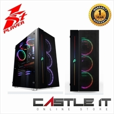 1st Player Black Sir B7-A Tempered Glass Tower ATX RGB Fan Gaming Casi