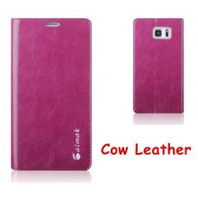 Aimak Cow Leather Samsung Galaxy Note 5 Flip Case Cover Casing +Gift