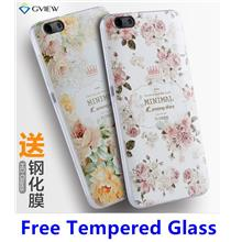Huawei Honor 4X 3D Relief Silicone Case Cover Casing + Tempered Glass